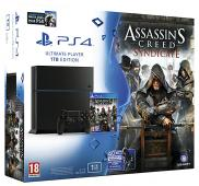 PS4 1To - Pack Assassin's Creed Syndicate + Watch Dogs (Jet Black)