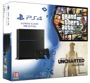 PS4 1To - Pack Uncharted The Nathan Drake Collection + GTA V (Jet Black)