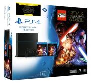 PS4 1To - Pack Lego Star Wars: le Réveil de la Force + Blu Ray: Star Wars The Force Awakens (Jet Black)