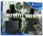 PS4 Slim 1To - Pack Call of Duty: Infinite Warfare + Modern Warfare Remastered (Jet Black)