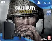 PS4 Slim 1To - Pack Call of Duty: WWII (Jet Black)