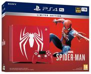PS4 Pro 1To - Pack Marvel's Spider-Man Edition Limitée Serigraphié (rouge)