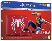 PS4 Slim 1To - Pack Marvel's Spider-Man Edition Limitée Serigraphié (rouge)
