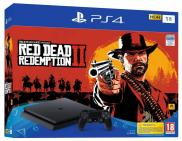 PS4 Slim 1To - Pack Red Dead Redemption II (Jet Black)